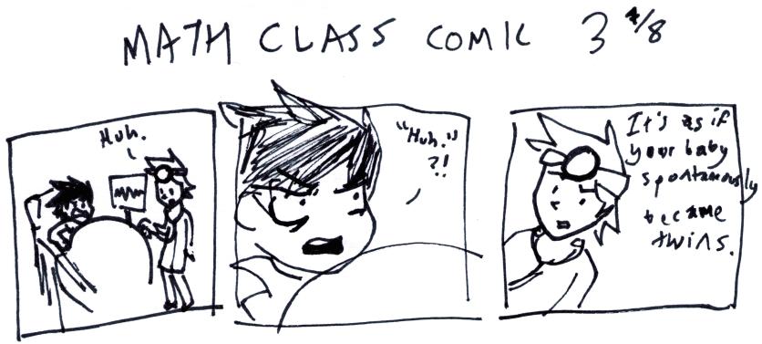 Math Class Comic 3⁷⁄₈